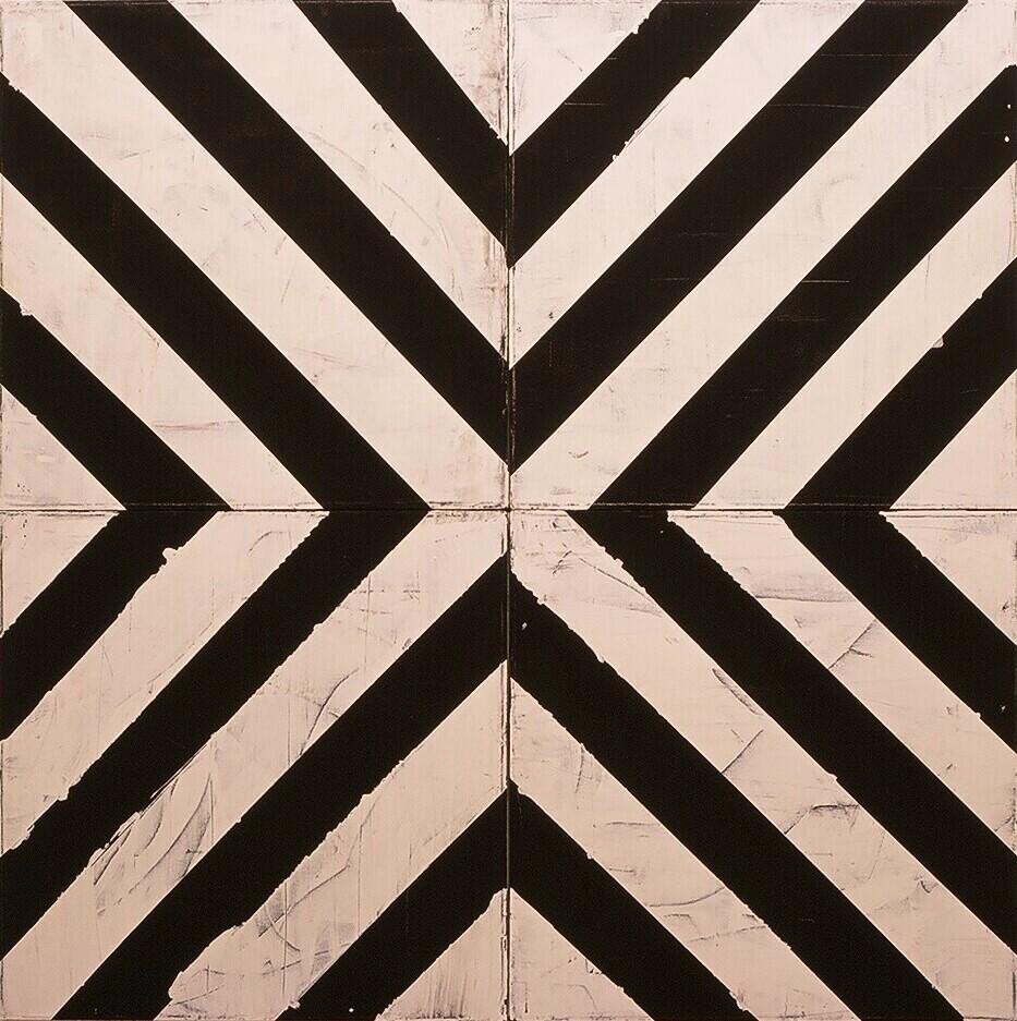 """Sifnos, 2003 (enamel on canvas) 67"""" x 67"""""""