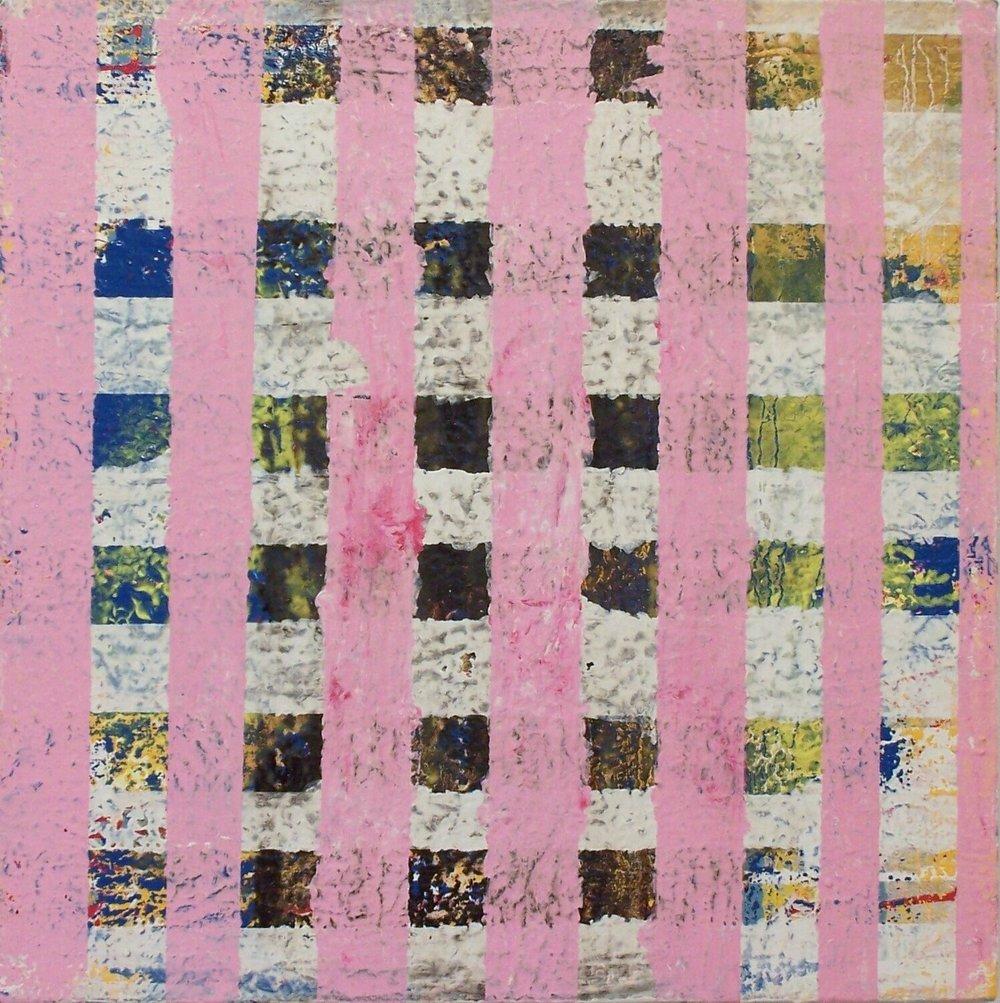 "Easter, 2002 (enamel on canvas) 24"" x 24"""