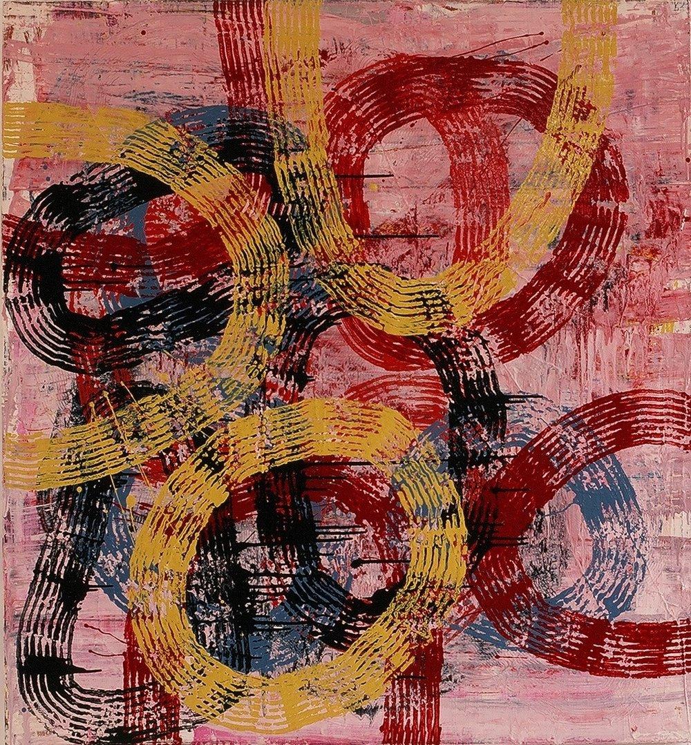 """Tuesday, 1998 (enamel on canvas) 52"""" x 48"""""""
