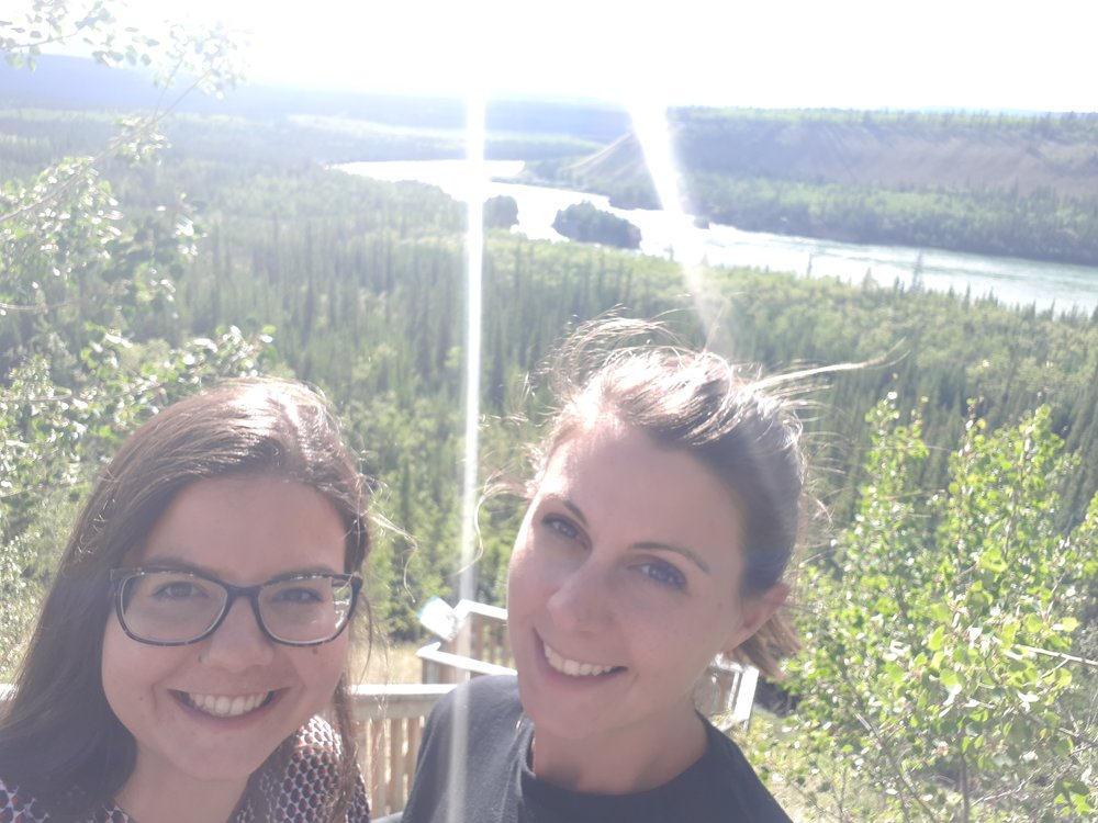 Road-side selfie, Five-Finger Rapids, Yukon Territory