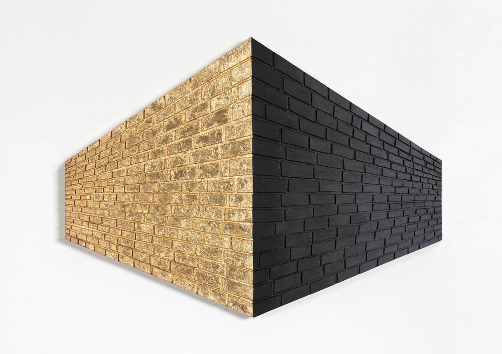 Brick Wall_Gold and Black