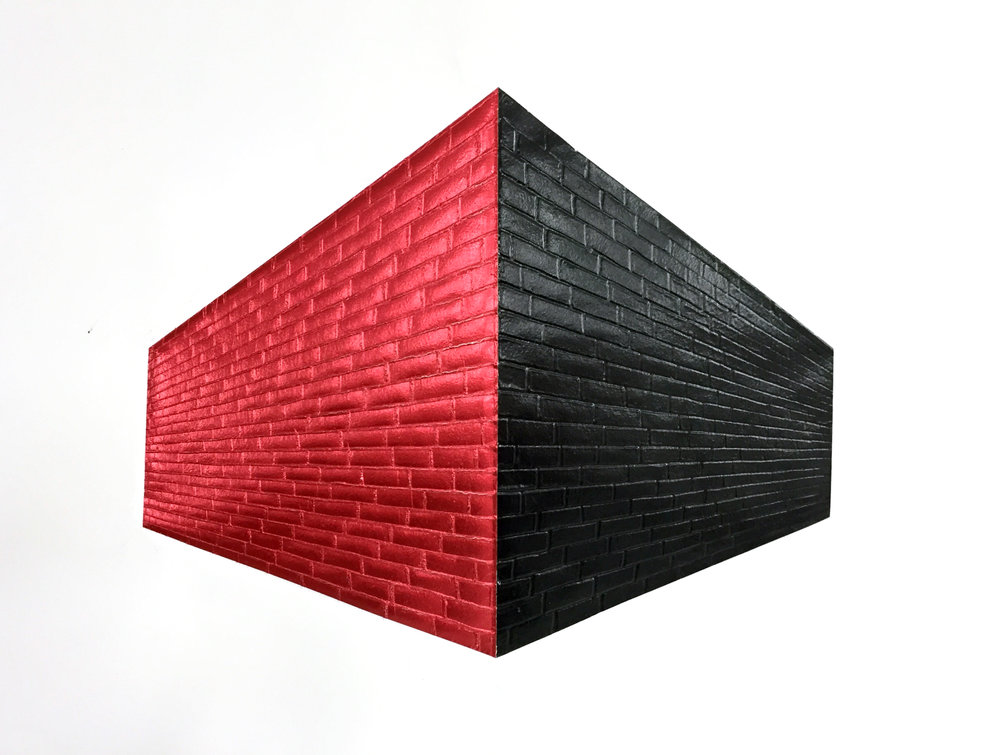 Brick Wall_Red and Black