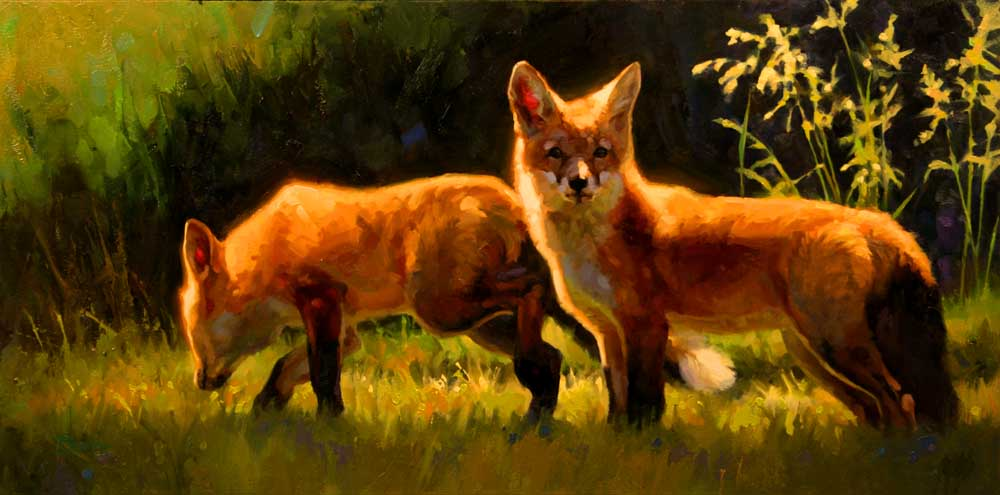 """""""Partners in Crime"""" 10x20 oil private collection"""