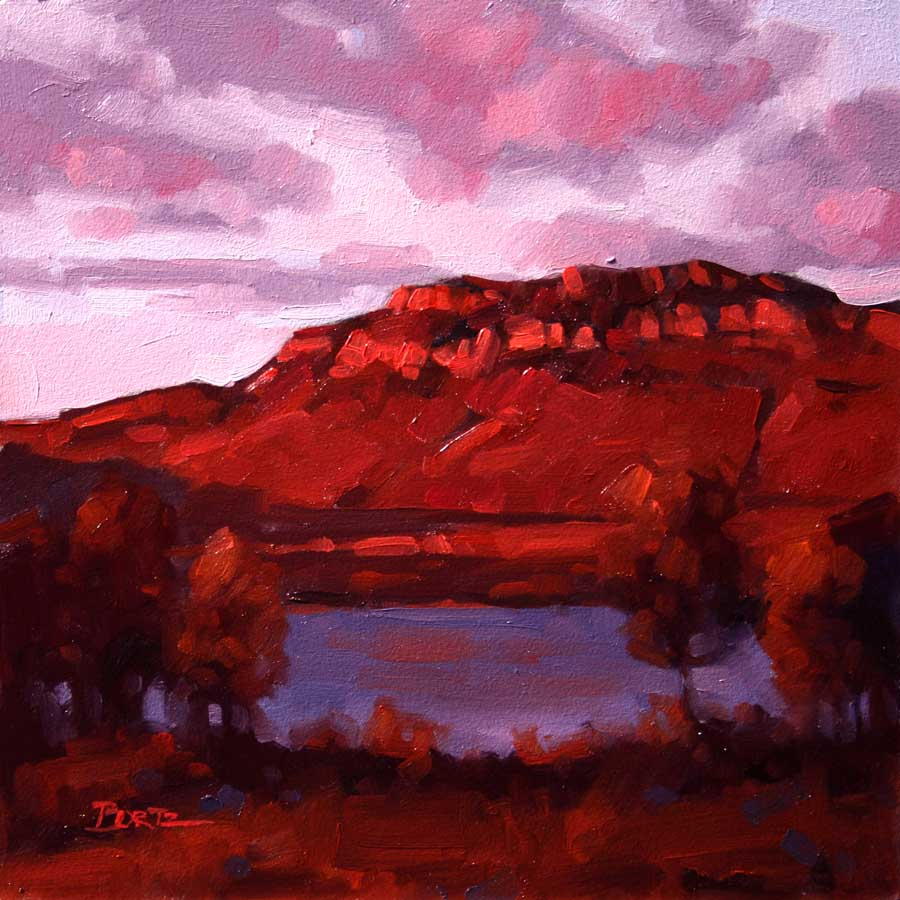"""Awakening - Sheep Mountain"" 6x6 oil  Private Collection"