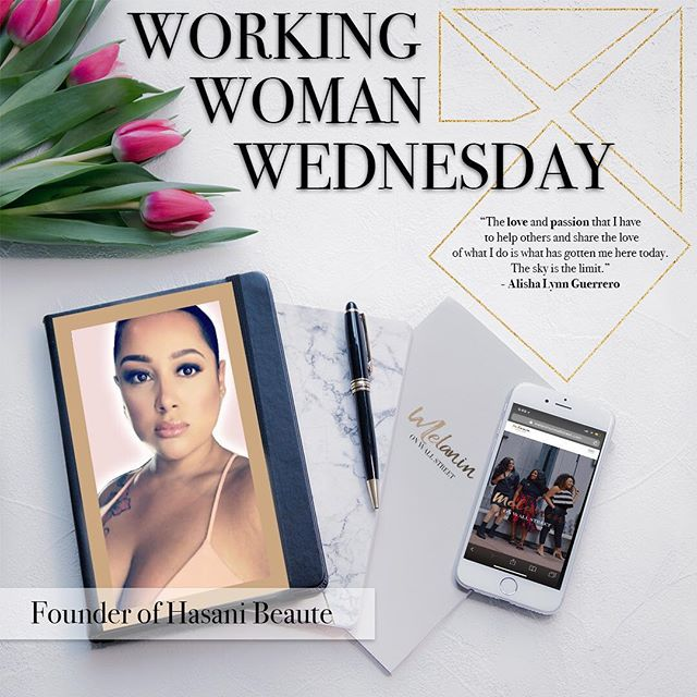 "It's #smallbusinessweek and also #workingwomenwednesday Today we're featuring an amazing Latina Business owner @hasanibeaute because our mission is to highlight amazing women doing amazing things not only in corporate America but in business too! Alisha Lynn randomly grew a passion for esthetics. She would go with her husband to get facials and they would visit spas frequently. Before separating from him she remembers creating a name for her future Spa which was Hasani Beaute. During  their separation, she worked for two different companies as a Cardiovascular Ultrasound and RN. Not too long after her transition she invested in her first Ultrasound slimming and cellulite reduction machine. She thought to herself, ""Hey I got this. I know ultrasound, I know frequency, etc."" One year went by and she continued to research and add more mobile services to her brand. After a year and a half of hard work which included working 7 days a week at the day job, seeing clients for body treatments at night (at her home or their home) and raising a 4yr old. She began to get overwhelmed.  Her husband grew aware of what she was doing and then came back into her life and asked how she felt about opening a business. Her medical careers were her security it included her retirement funds, her health insurance and guarantee. She made the decision to quit and go for her dreams. Opening Hasani Beaute was the most challenging situation she ever faced in life. Her husband invested and left again. At that time, she was new to business. She had absolutely no idea of what she needed to maintain it and didn't know about taxes, liability and so forth. There were times where she almost gave up because she didn't have the support that she needed. She explains having no one to talk to about her problems because people barely understood her. She had no loans, no credit until she woke up one day and just decided to get it together. She separated herself from family, friends and all distractions. She focused and prayed! She became super loyal to God because she knew this was for her. Please follow @hasanibeaute an amazing woman doing amazing things 💗 #melaninonwallstreet #workingwomanwednesday"