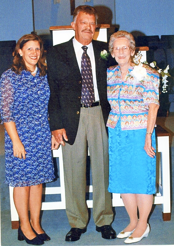 Ted Rubley w Daughter Melissa & Step Mother Edna Radford Rubley