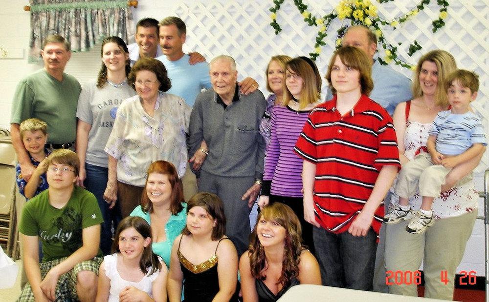 """Ernest """"Nib"""" Rubley's 90th Birthday  2008"""