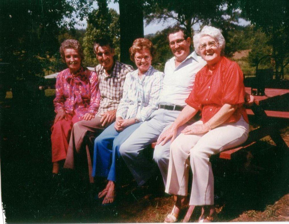 Albert's Children - 1983 (L to R: Helen, Charles, Margie,  Albert Jr., Viola (Boots)  (Willie Mae & James not pictured)