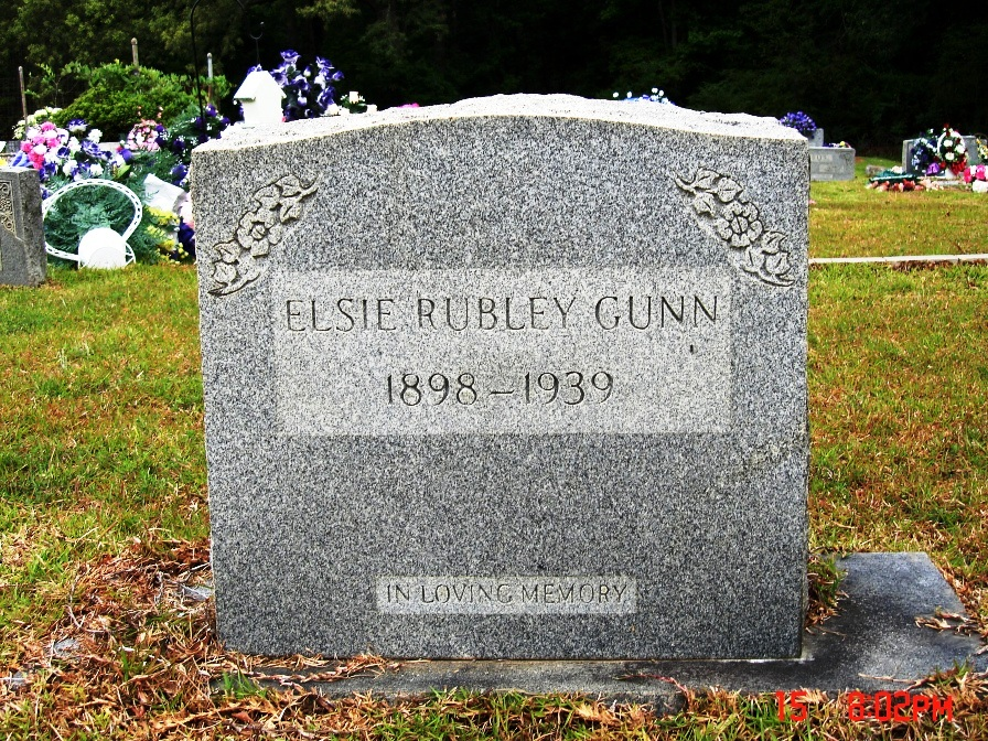 Elsie Rubley Gunn (Daughter of William)