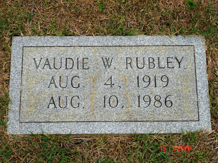 Vaudie Warren Rubley,  Wife of Charles Edward Rubley