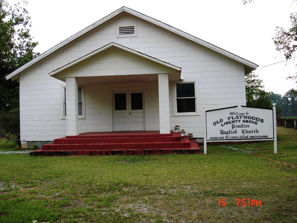 Old Flatwoods Church Location of Rubley Plot