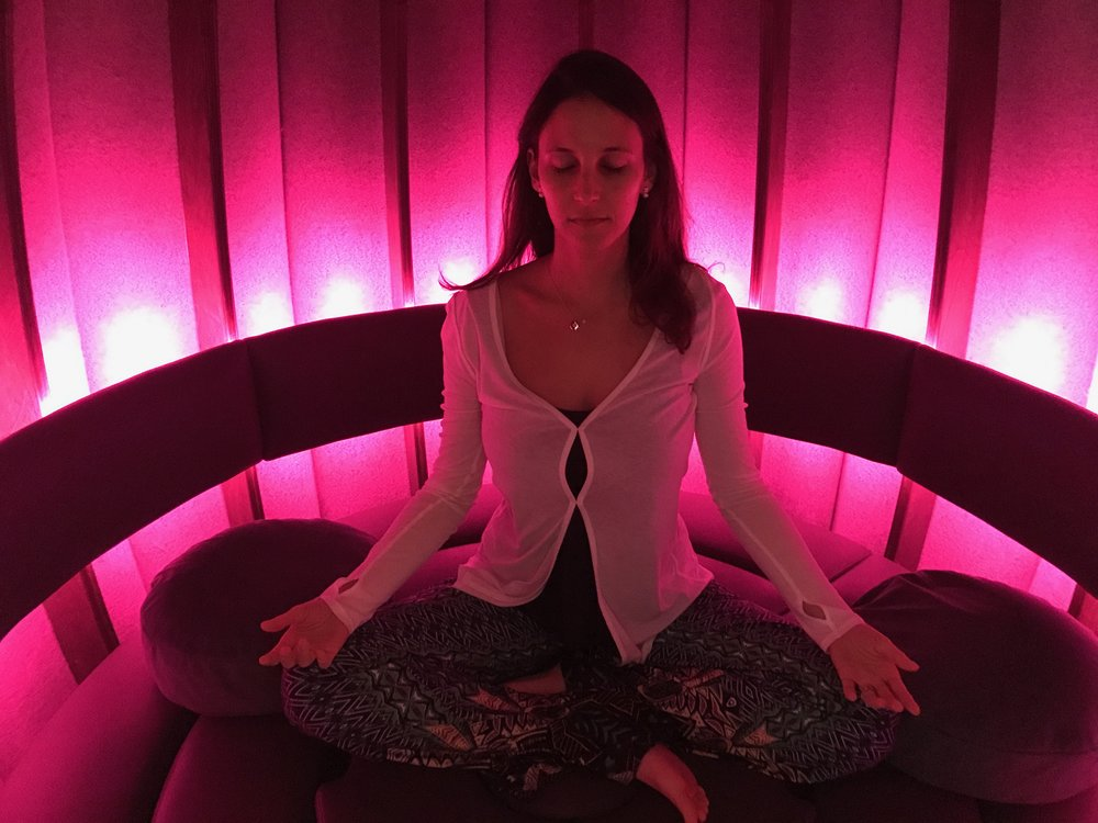 Vanessa - The Vessel is comfy and inviting. Perfect acoustics and interior dimensions gives it a womb-like vibe without making you feel claustrophobic. You always come out feeling lighter.