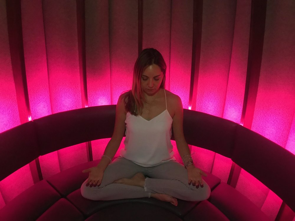 Katya - It honors the ancient practice of mediation in a cool design in a modern setting. I felt as if I was in another galaxy. It's a magical experience.