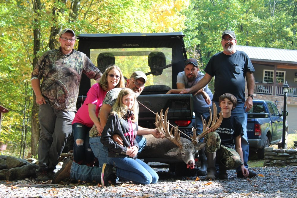 Our first hunt this year featured a family surprise hunt. On October 7, 2017 young hunter Sean Lewis harvested this awesome 34 point, 290 pound trophy.with one well placed shot at 12:30 PM. Sean's family surprised him by booking a hunt without his knowledge only upon arriving at our facility on Friday afternoon.
