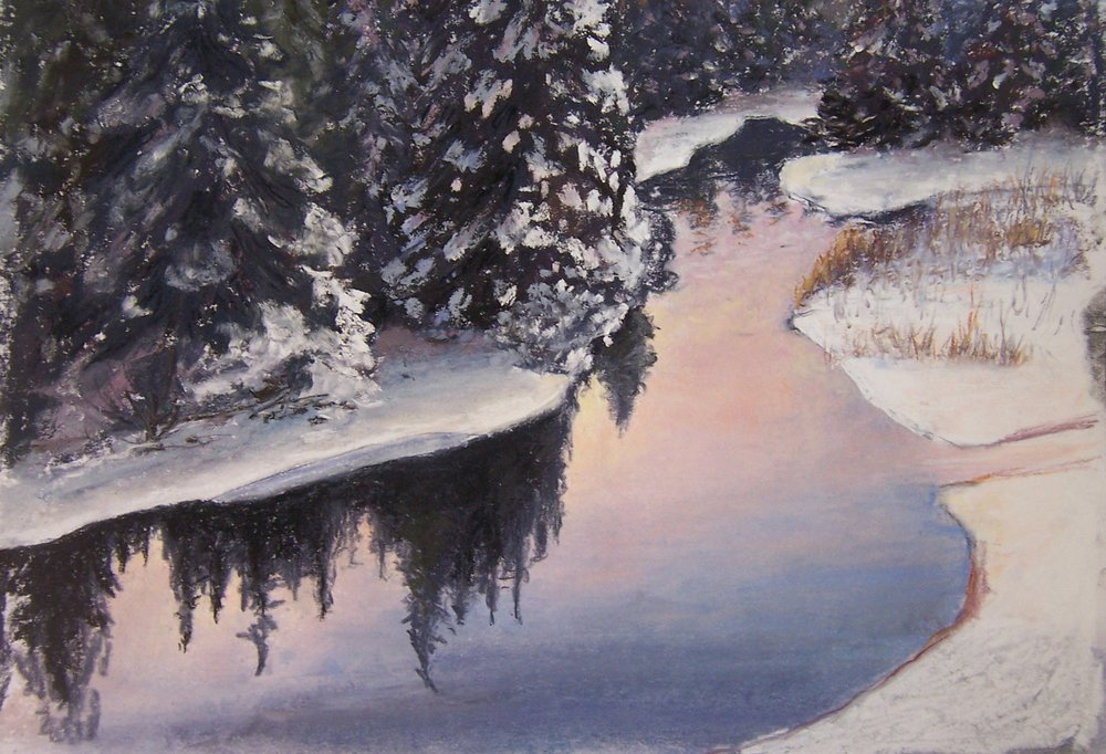 "1. Carol Ast ""Stillness""   Pastel 14″ x 16″ Retail value $"