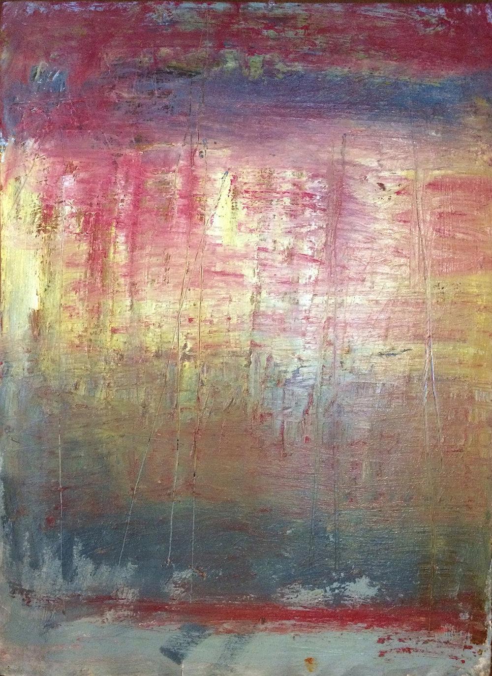 "Glow • Oil pastel on paper • 30 x 22"""