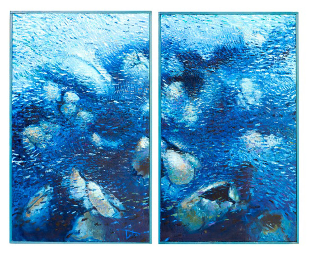 Into the Deep (diptych) • Oil on canvas • 70 x 60""