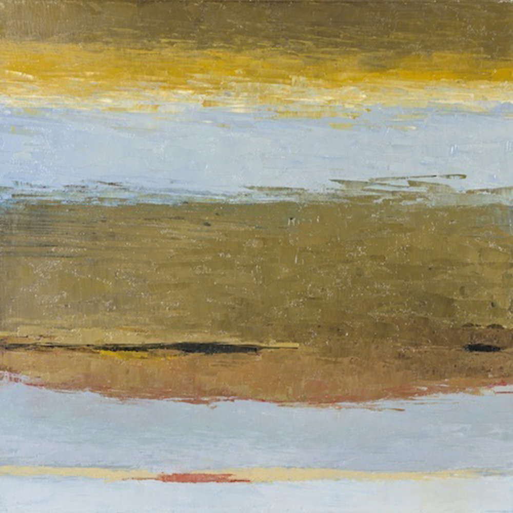 "Little Stream • Oil on wood • 15 x 17"""
