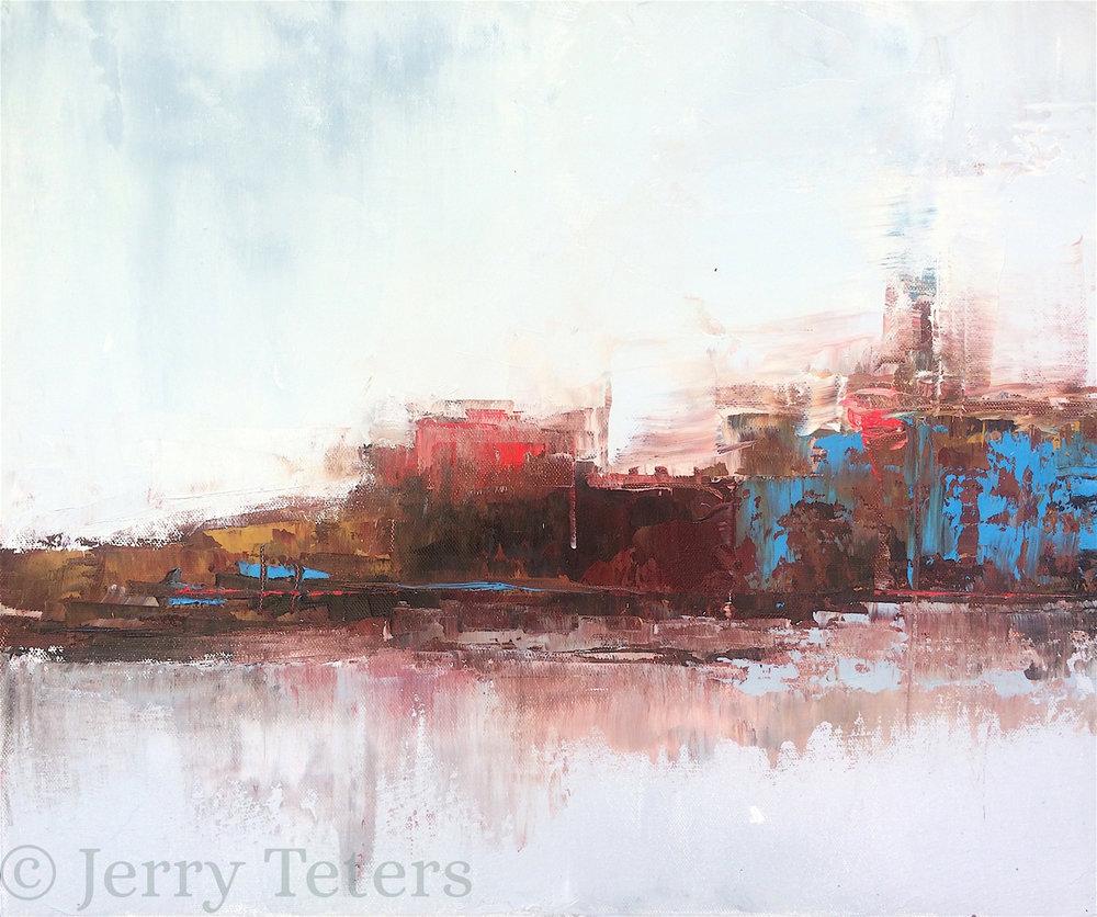 """Skyline • Oil on canvas • 16 x 19"""""""