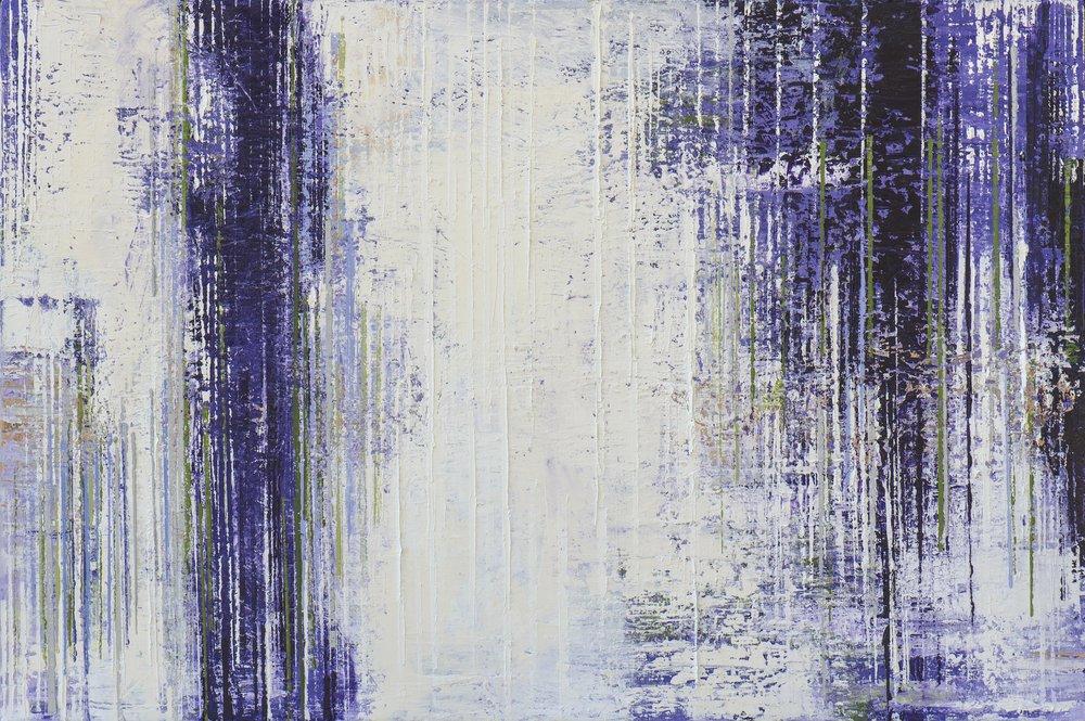 "Purple Rain • Oil on canvas • 36 x 48"""