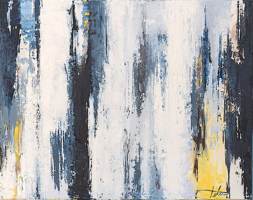 "Winter's Window • Oil on canvas • 16 x 20"""