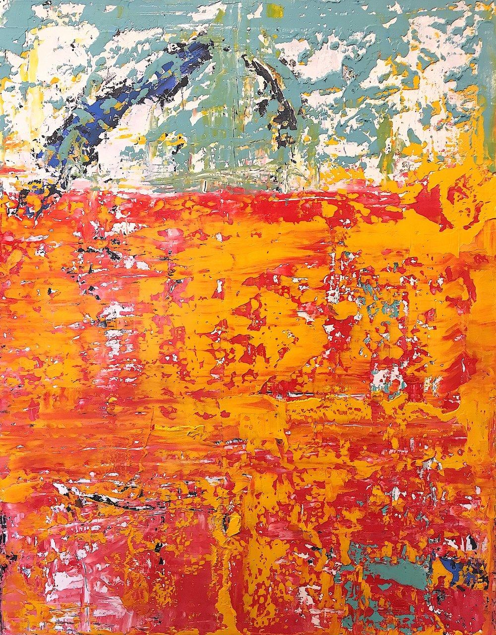 """Joy Underground • Oil on canvas • 18 x 22"""""""