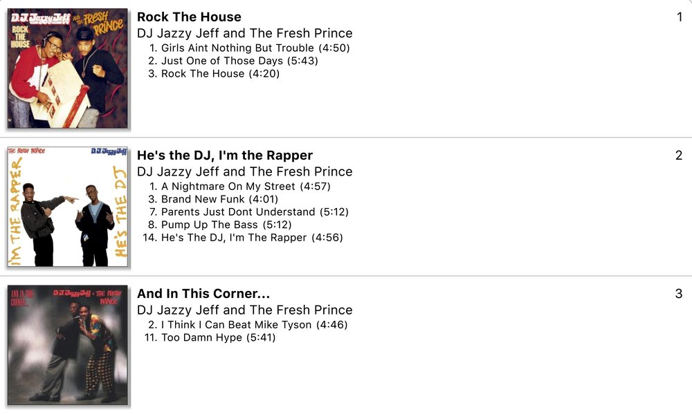 DJ Jazzy Jeff and The Fresh Prince Clean Songs (Part 1)