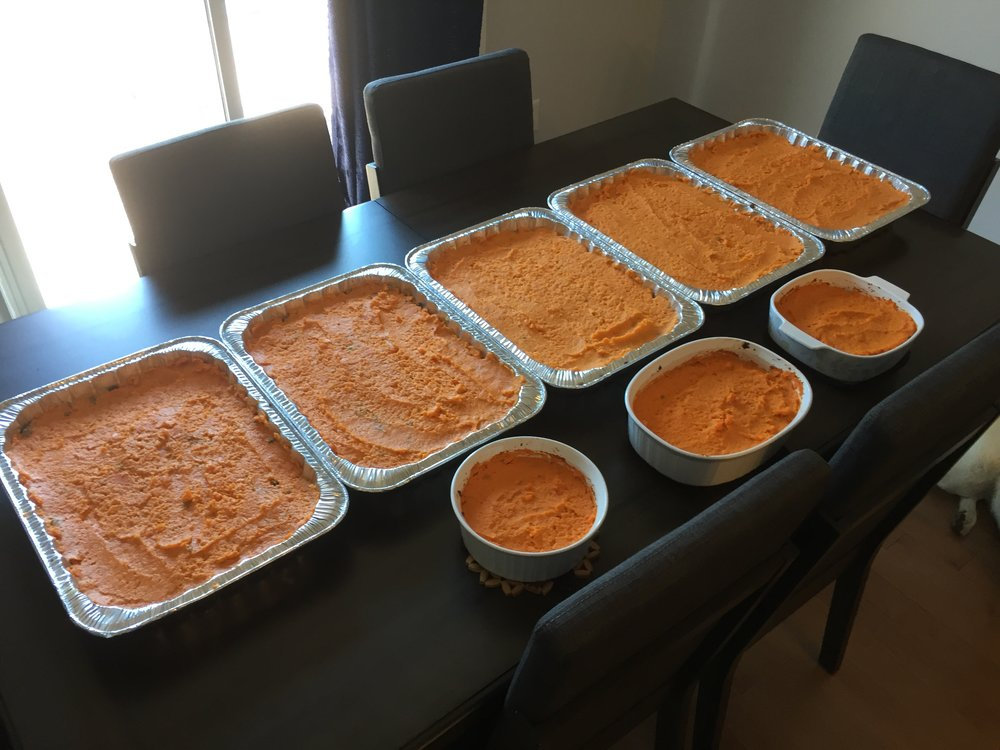 These were all the shepherds pie trays we made