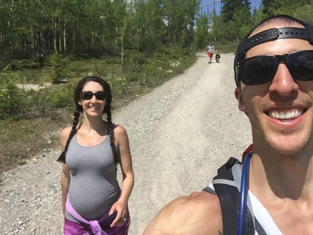 Mama Bird and Papa Bird hiking
