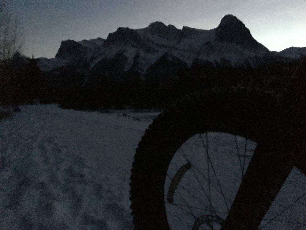 What a view for a night fat bike ride