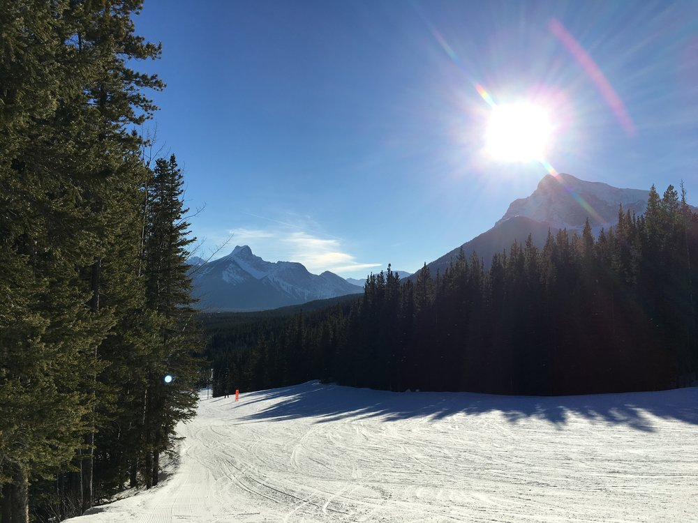 The view from the hill at Nakiska