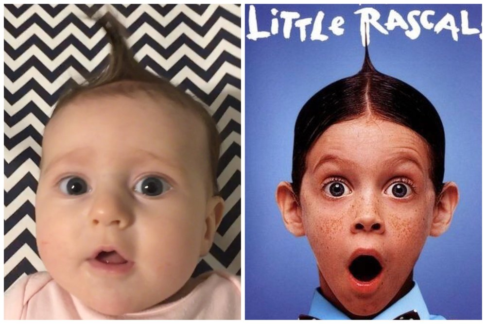 Good old alfalfa hair from the little rascals