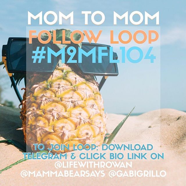 Join our Mom 2 Mom OHANA & Meet Moms, Influencers, Bloggers & Small Shops through this FOLLOW LOOP!  1. Tap on #M2MFL104 2. Follow Everyone under the hashtag 3. Comment 🌴 on everyone you follow . Allow 48 hours for a follow back . Follow those who use THIS IMAGE! . Download Telegram App & Click link on @lifewithrowan, @gabigrillo or @mammabearsays BIO to join weekly loop group & for today's loop info.