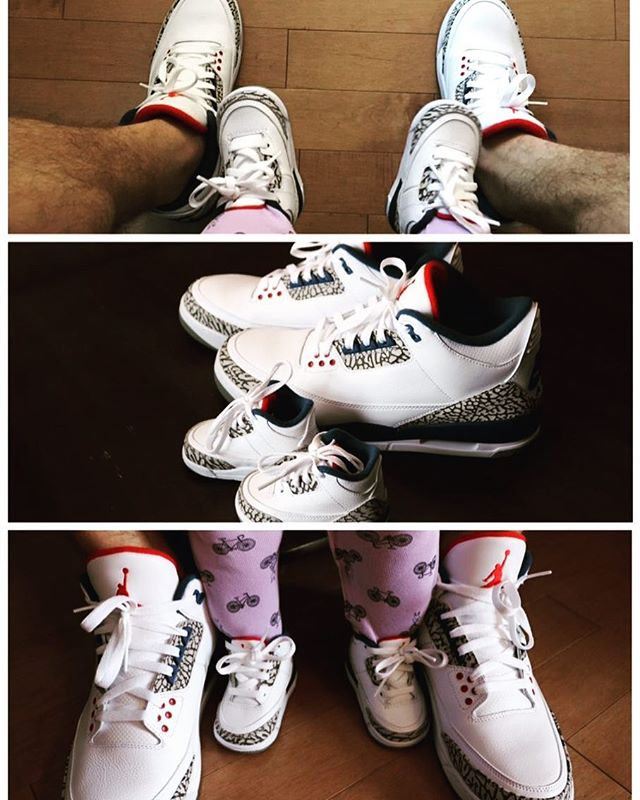 Daddy-daughter Jordan's day 👟 #baby #babygirl #babybird #matchingshoes #daddydaughter #besties #tinyfeet #socute #shelovessneakers #blog #blogger #parentblogger #yeg #yegbaby #matching #parent #parenting #parentinggoals #parentingwin