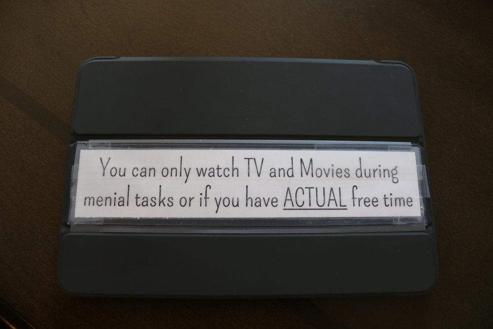 No TV time