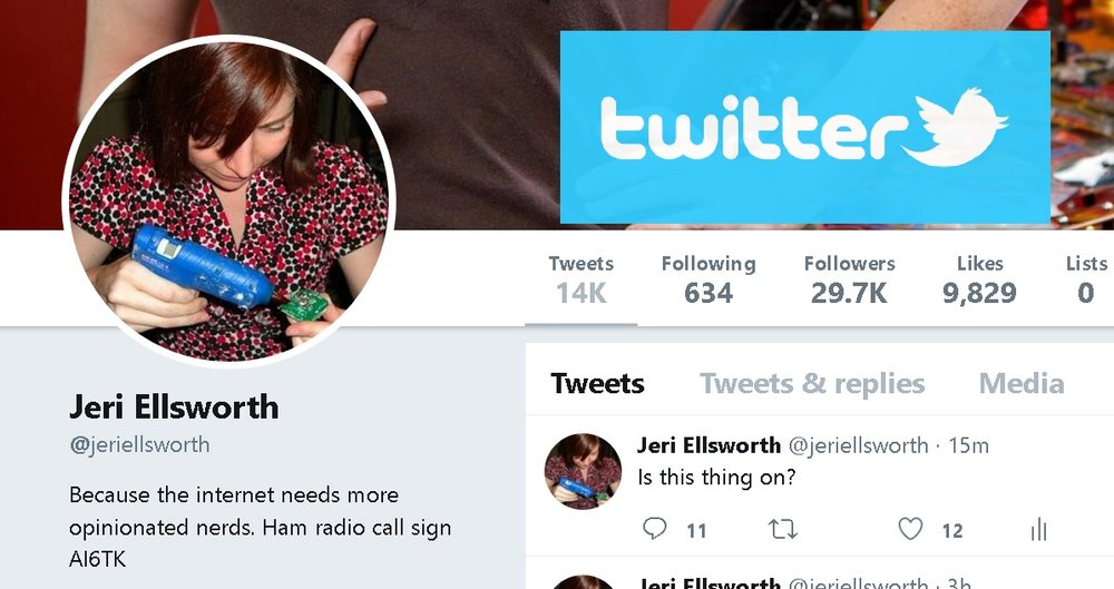 Jeri Ellsworth - Twitter