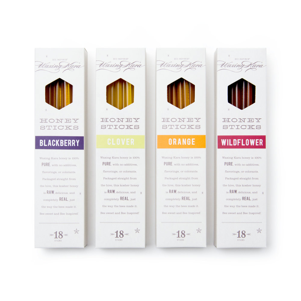 Raw Honey Sticks from Waxing Kara