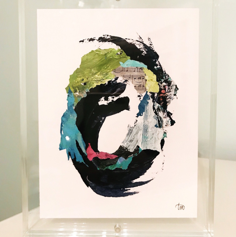 Mini Acrylic Framed Watercolor by Local Artist Theodora Miller