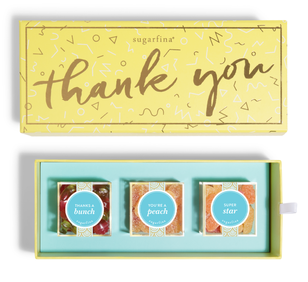 Sugarfina Thank You Box With Your Choice of Three Flavors