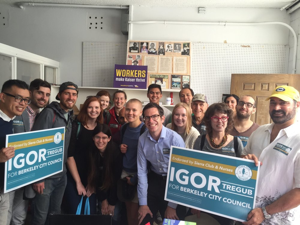 Compassionate Bay volunteers canvassing for Igor Tregub  October 8, 2018