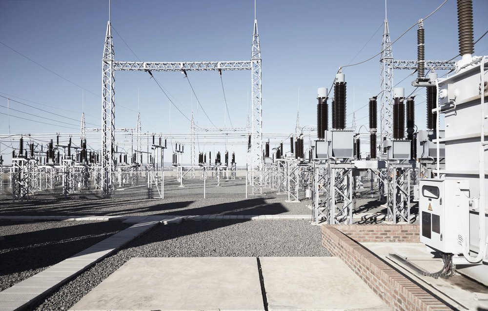Electrical Sub station at Scatec Solar Kalkbult solar farm
