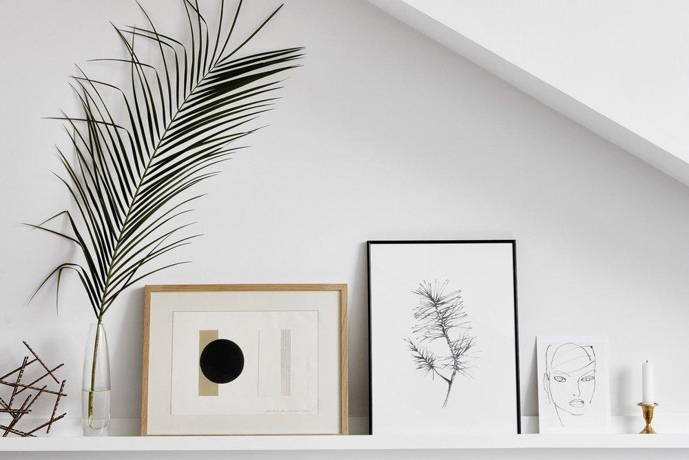 Art on shelf