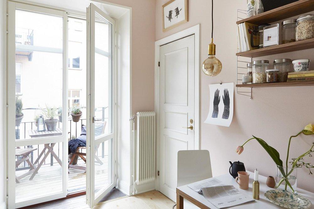 Pink walls apartment