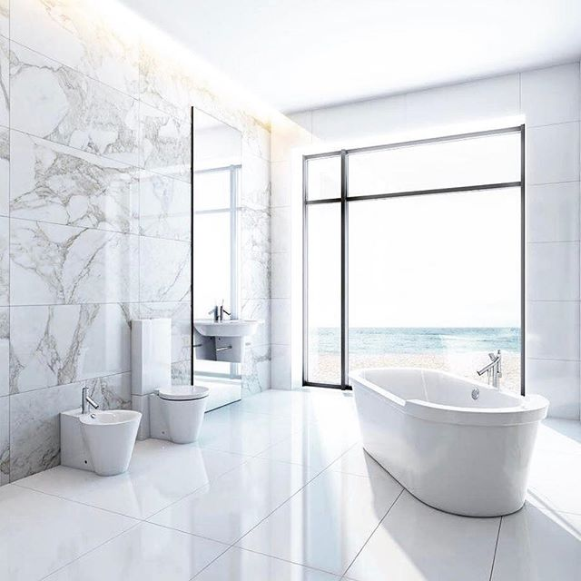 #Repost @nouvocountertops ・・・ #bathroom #bathroomideas #homeinspo #dreambathroom #interior #interior123 #marble #bath #whiteinterior