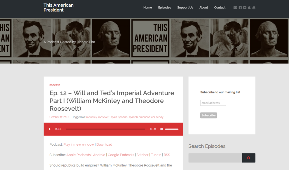 """A podcast website made on WordPress with the """"Podcaster"""" theme."""