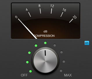 Hindenburg's stock Compressor is a simple knob to determine the compression strength.