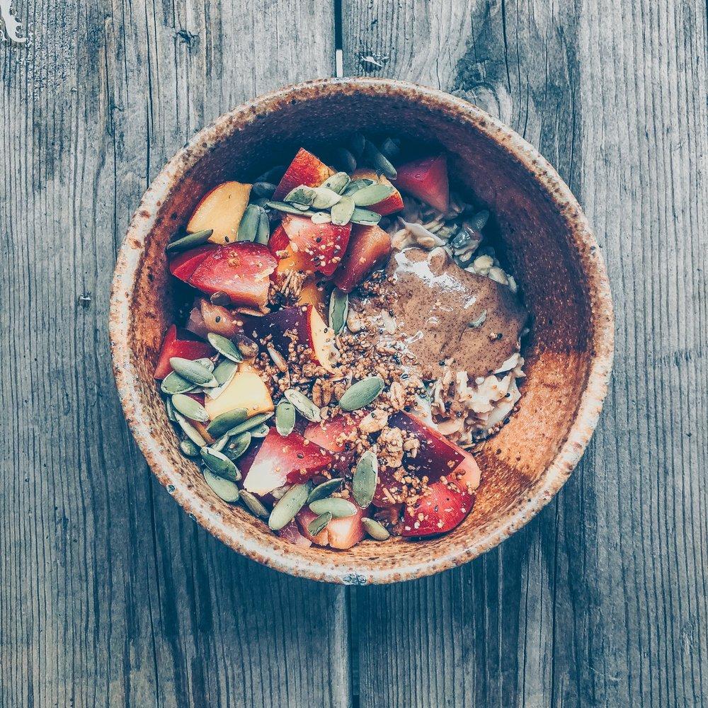 Summer Stone Fruit Oatmeal