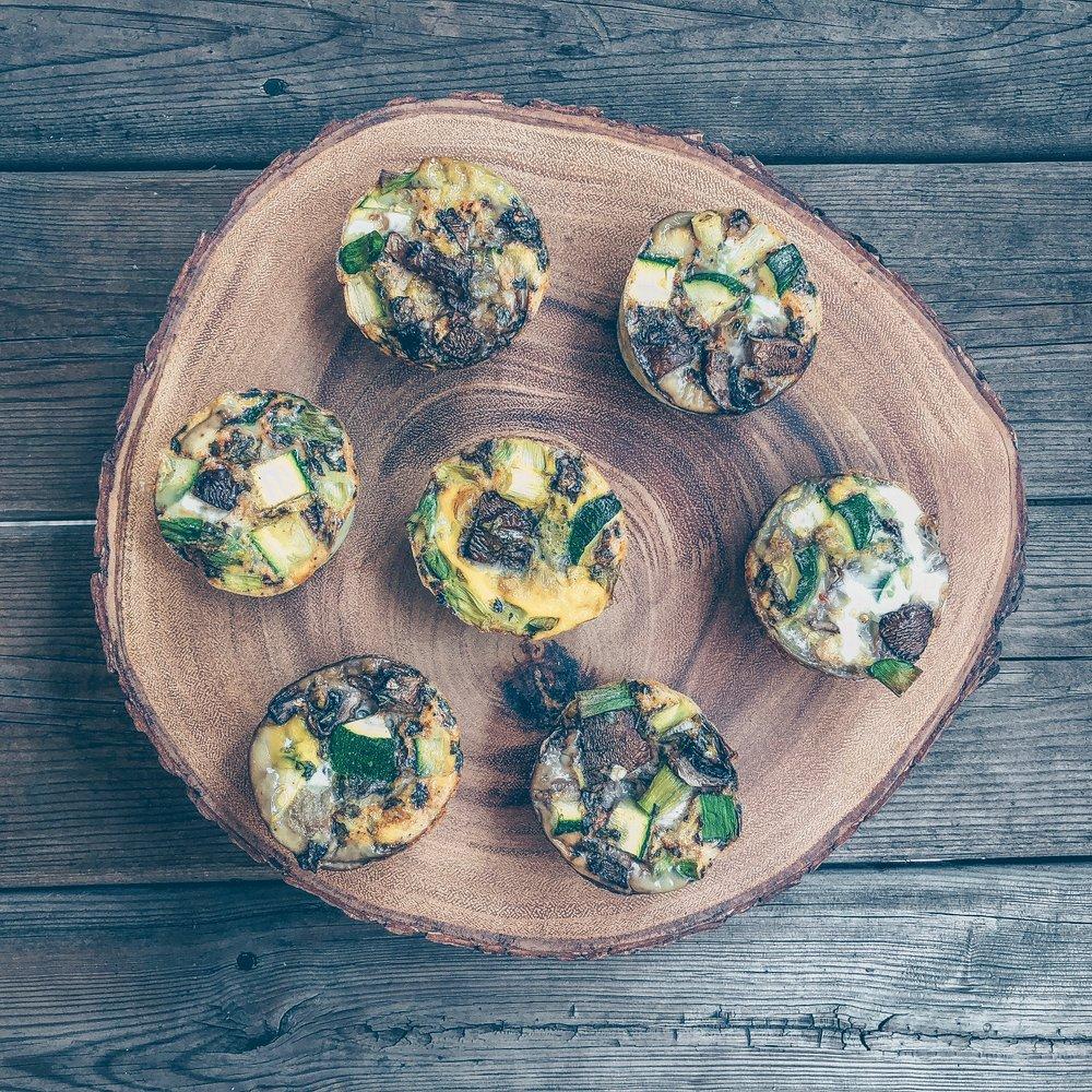 Zucchini Mushroom Egg Muffins