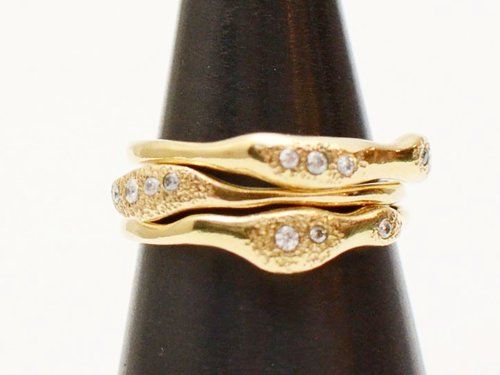 gold stacked ring petite images bands on best jewellery band pinterest wedding beaded rings stackable