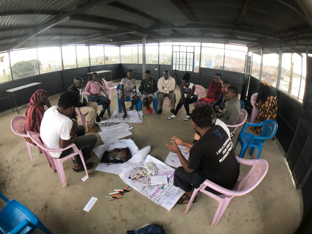 Workshop with artists and community members